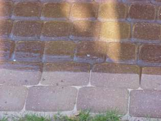 Grasshoppers Landscaping LLC Paver Maintenance - Behr wet look paver sealer
