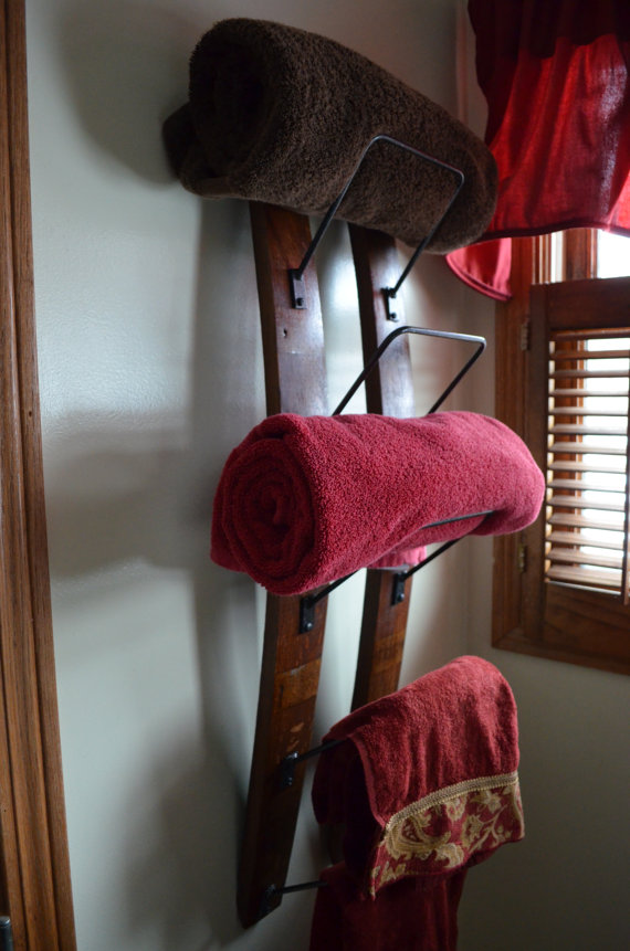 wine barrel towel rack- Dallas TX   www.grasshopperslandscapingllc.com