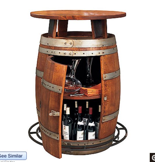 custom wine barrel bestro table- Dallas TX   www.grasshopperslandscapingllc.com